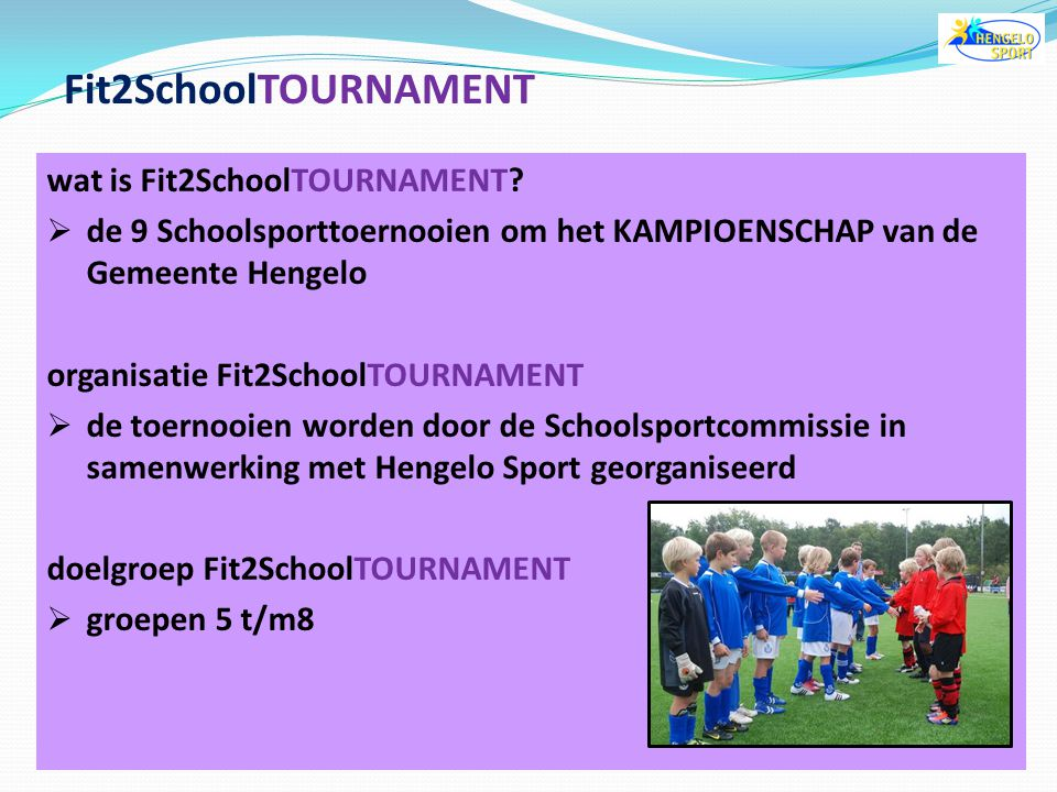 Fit2SchoolTOURNAMENT wat is Fit2SchoolTOURNAMENT
