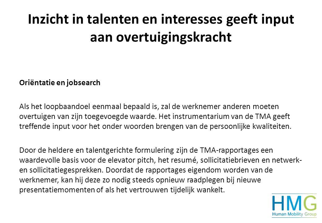 Inzicht in talenten en interesses geeft input aan overtuigingskracht