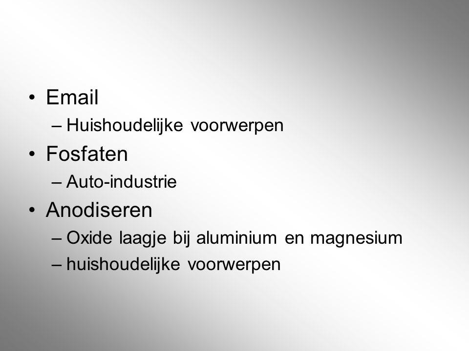 Email Fosfaten Anodiseren Huishoudelijke voorwerpen Auto-industrie