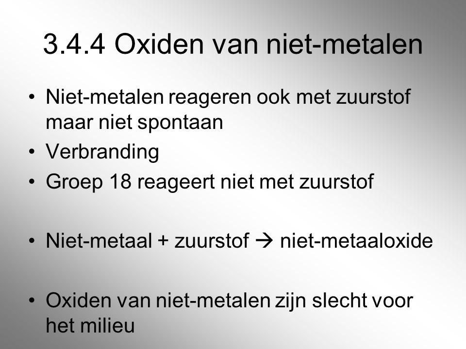 3.4.4 Oxiden van niet-metalen