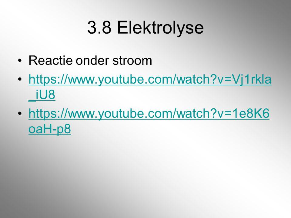 3.8 Elektrolyse Reactie onder stroom