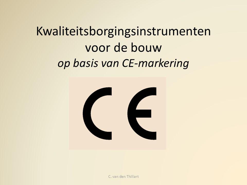 Kwaliteitsborgingsinstrumenten voor de bouw op basis van CE-markering