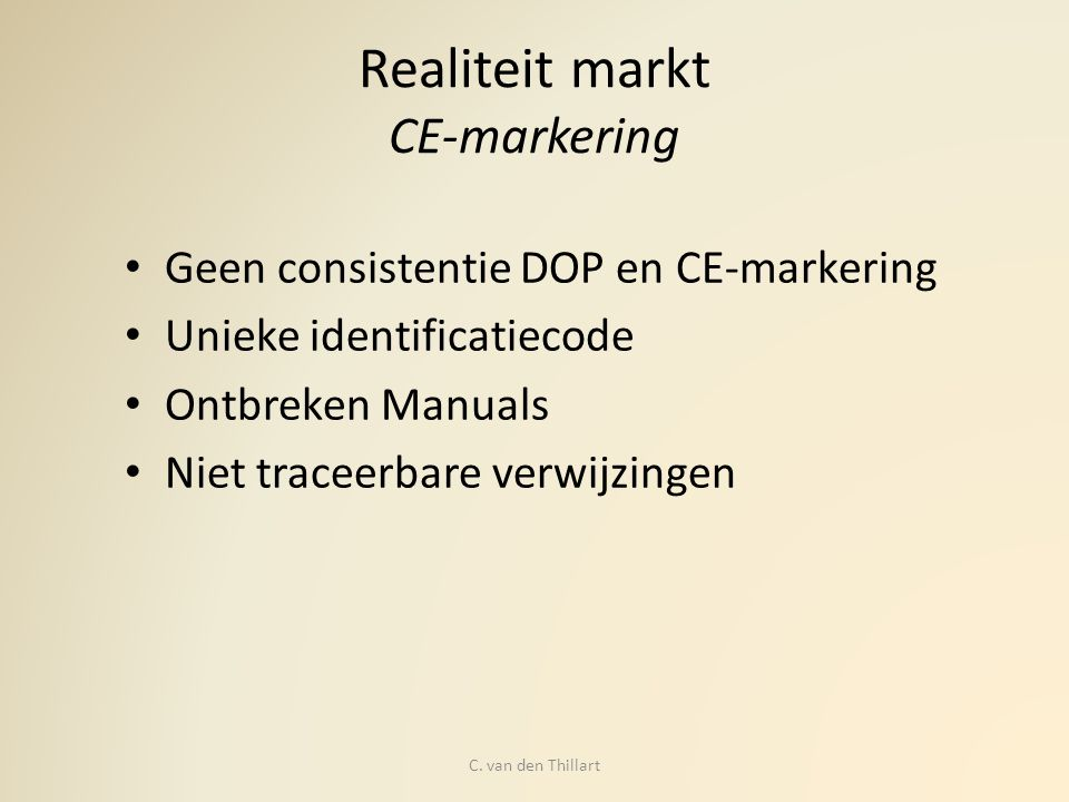 Realiteit markt CE-markering