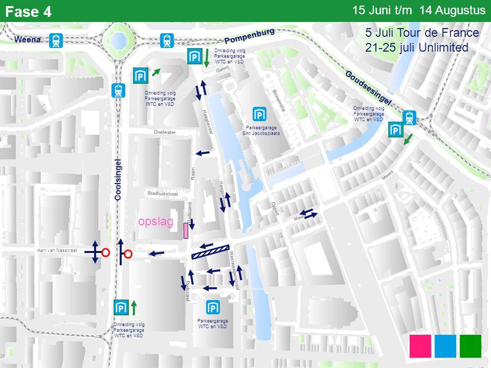 Fase 4 15 Juni t/m 14 Augustus 5 Juli Tour de France