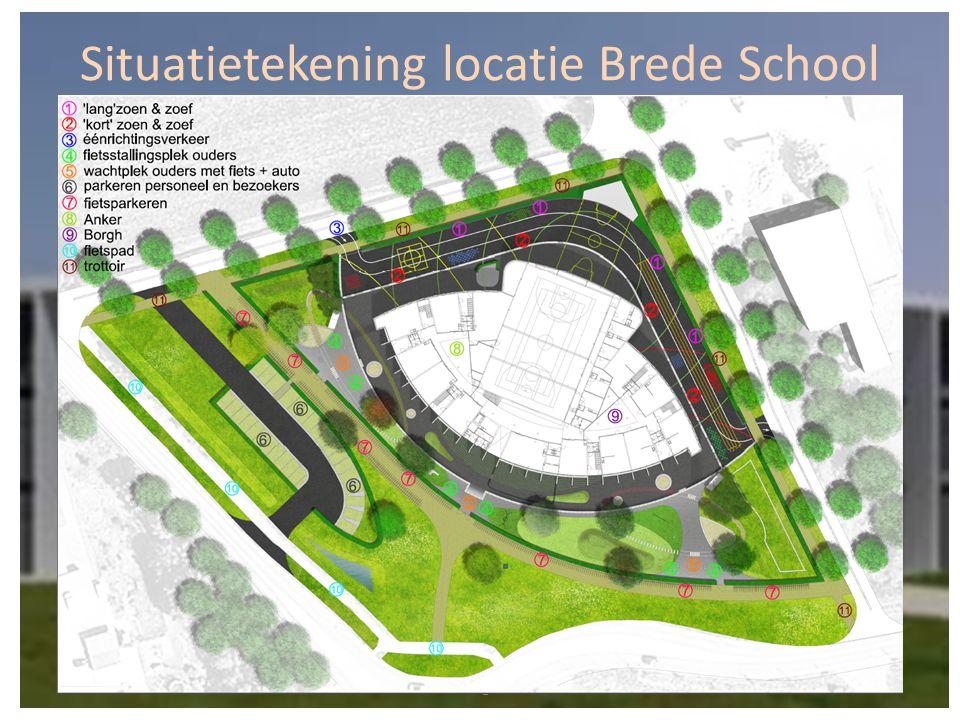 Situatietekening locatie Brede School