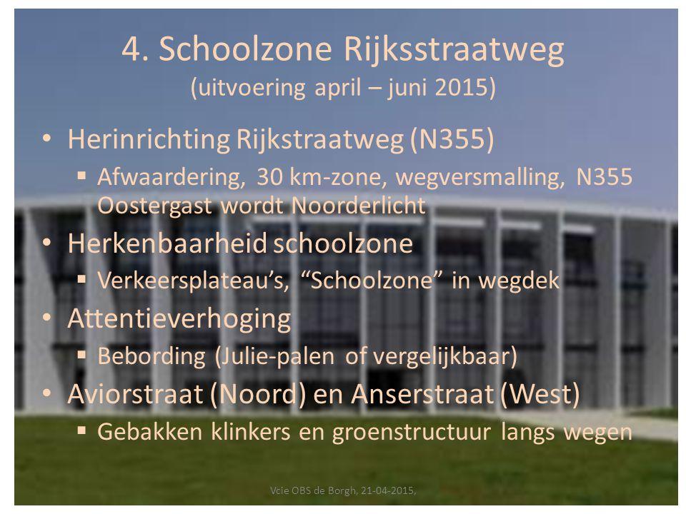 4. Schoolzone Rijksstraatweg (uitvoering april – juni 2015)