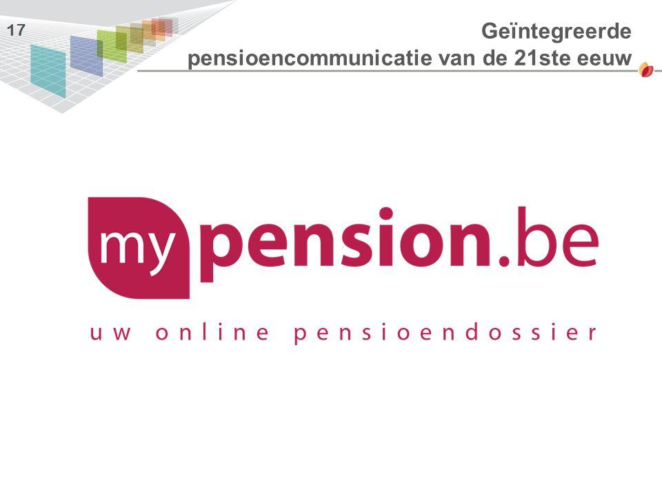 Geïntegreerde pensioencommunicatie van de 21ste eeuw