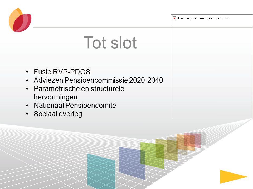 Tot slot Fusie RVP-PDOS Adviezen Pensioencommissie 2020-2040