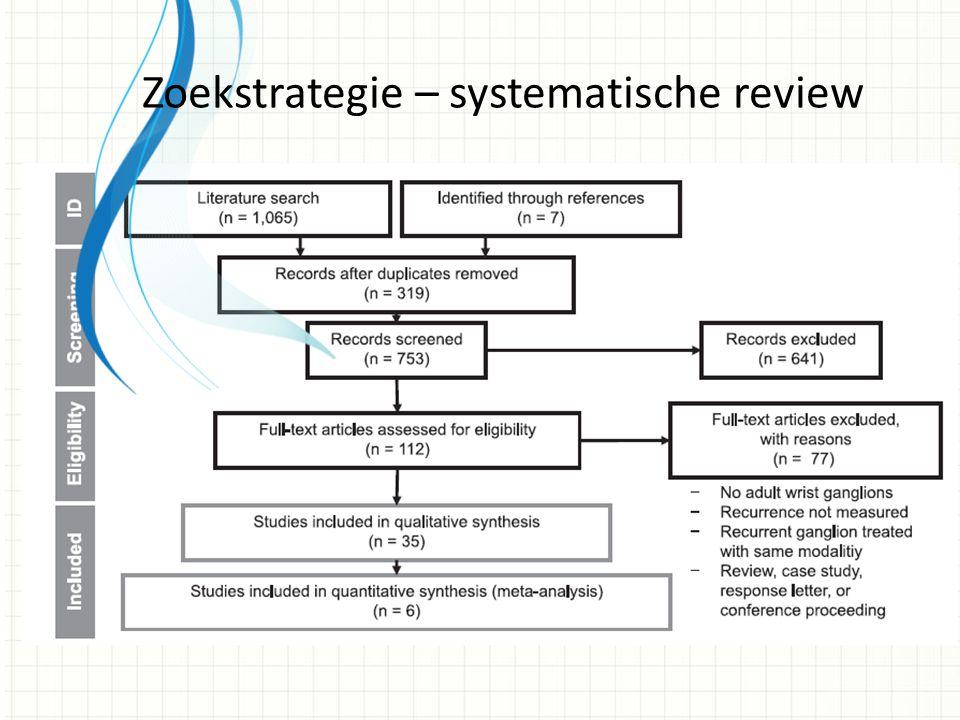 Zoekstrategie – systematische review