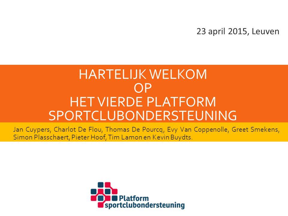 Hartelijk welkom op het vierde Platform Sportclubondersteuning