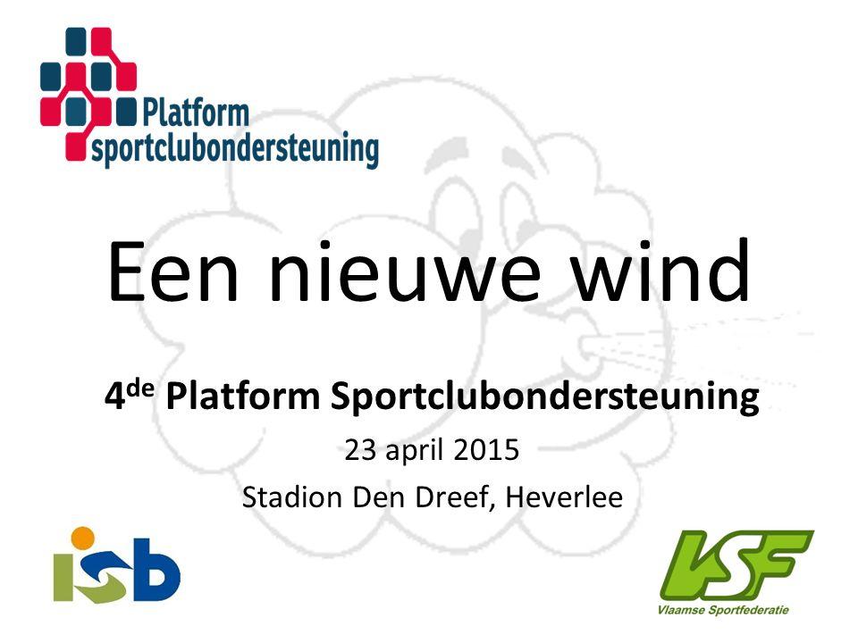 4de Platform Sportclubondersteuning
