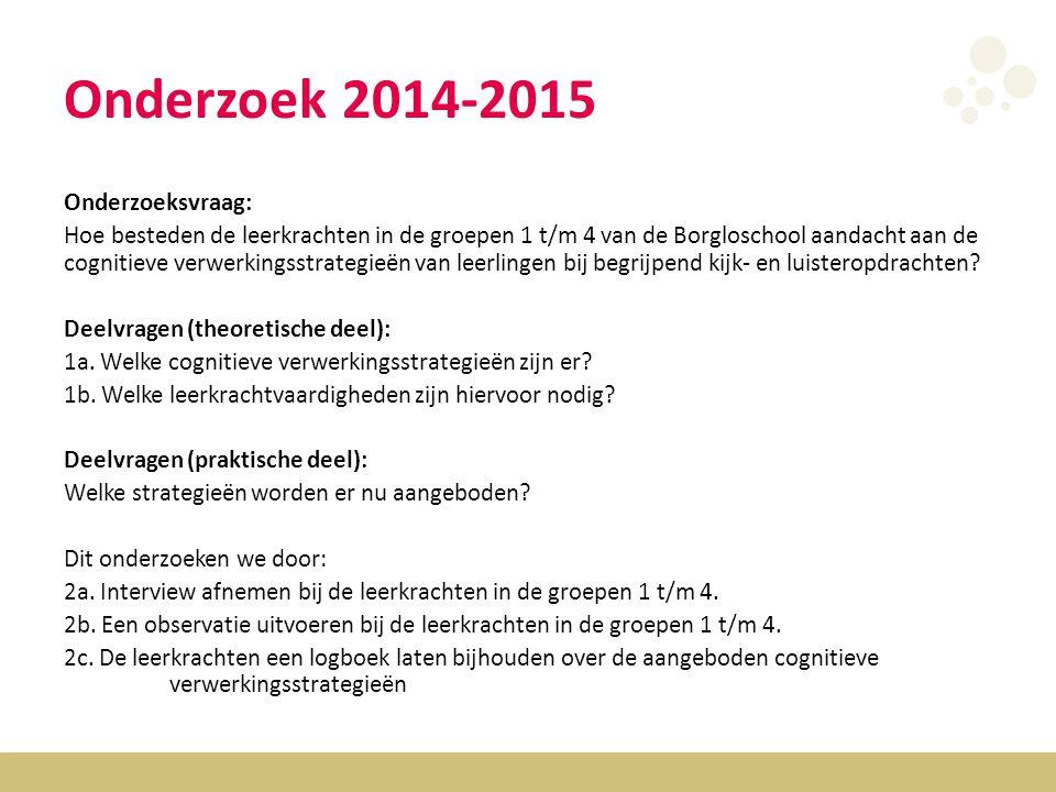 Onderzoek 2014-2015