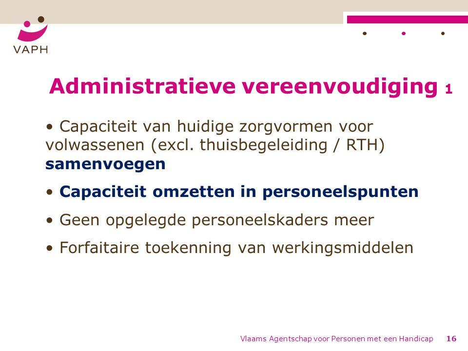 Administratieve vereenvoudiging 1