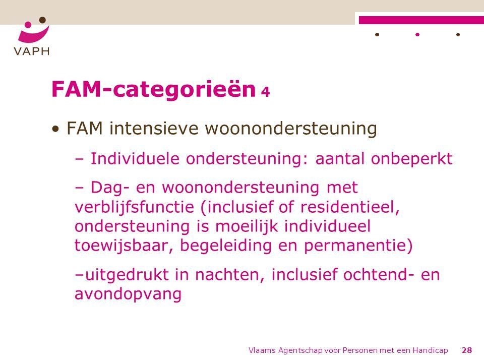 FAM-categorieën 4 FAM intensieve woonondersteuning