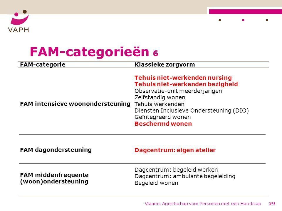 FAM-categorieën 6 FAM-categorie Klassieke zorgvorm