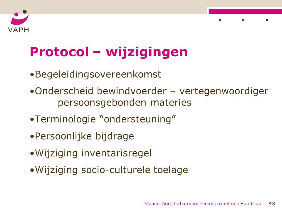 Protocol – wijzigingen
