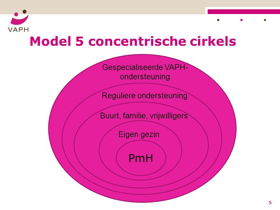 Model 5 concentrische cirkels