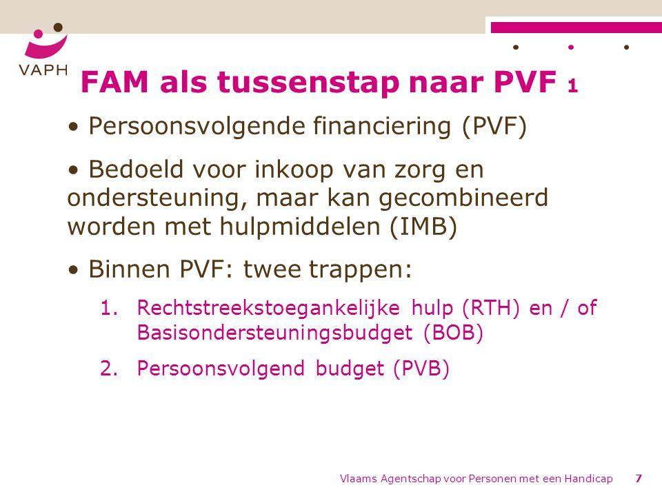 FAM als tussenstap naar PVF 1