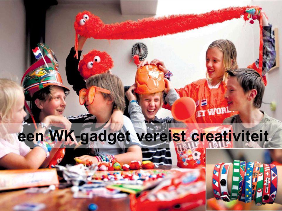 een WK-gadget vereist creativiteit