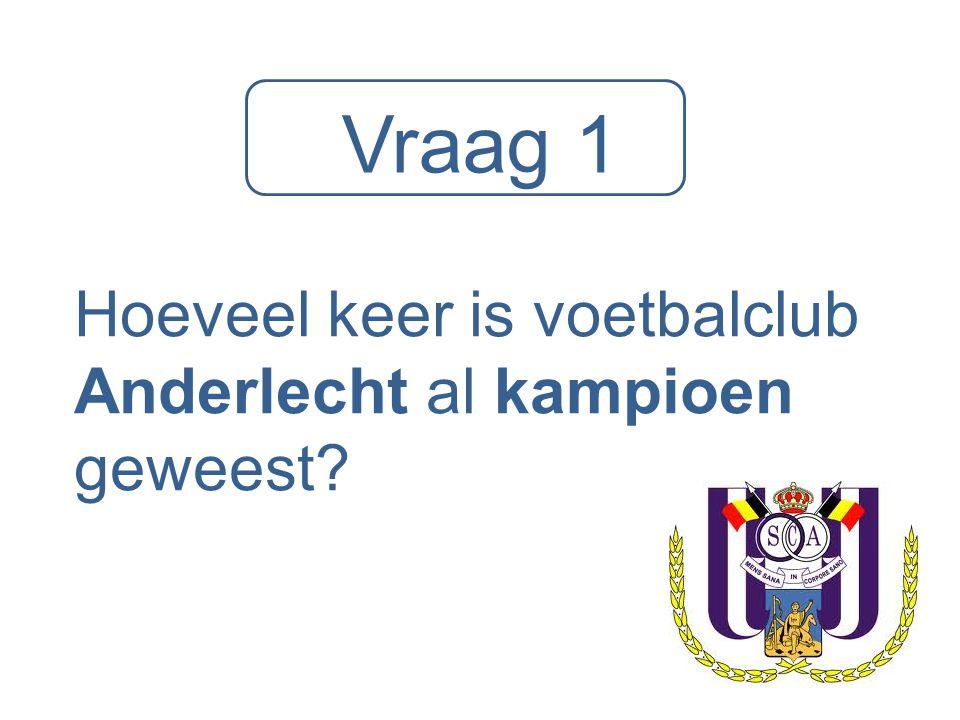 Hoeveel keer is voetbalclub Anderlecht al kampioen geweest