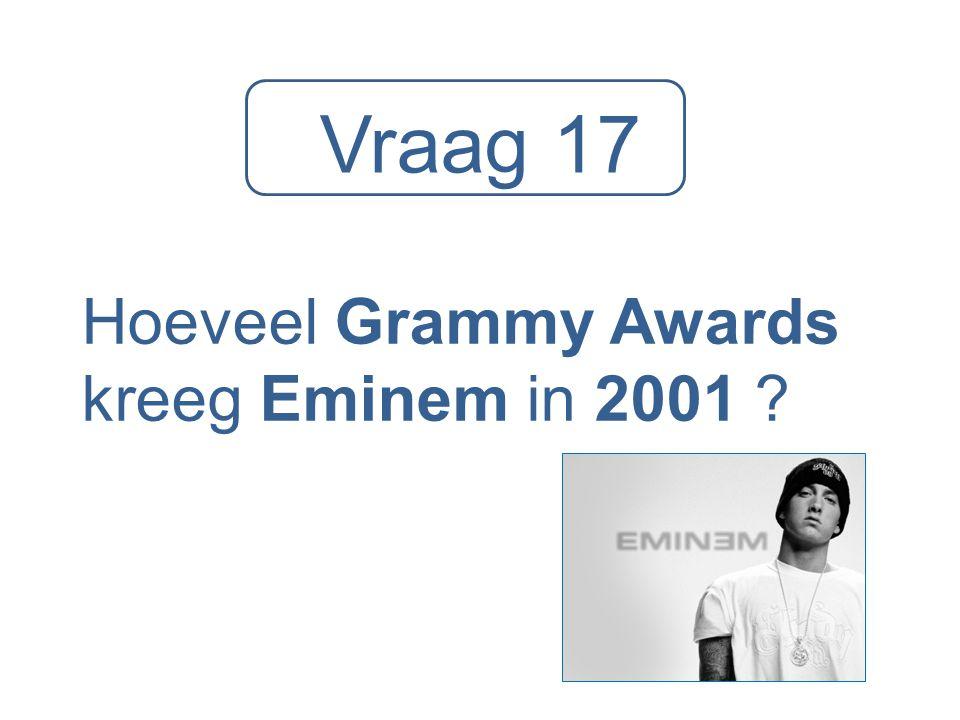 Hoeveel Grammy Awards kreeg Eminem in 2001