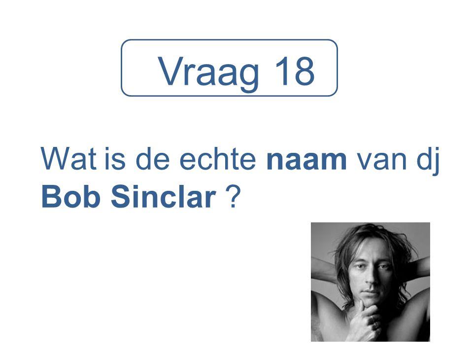 Wat is de echte naam van dj Bob Sinclar