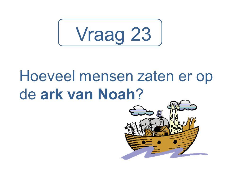 Hoeveel mensen zaten er op de ark van Noah