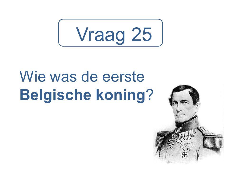 Wie was de eerste Belgische koning