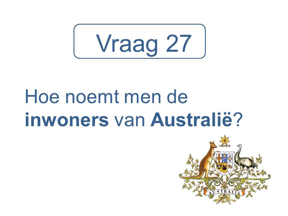 Hoe noemt men de inwoners van Australië