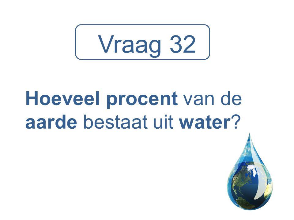 Hoeveel procent van de aarde bestaat uit water