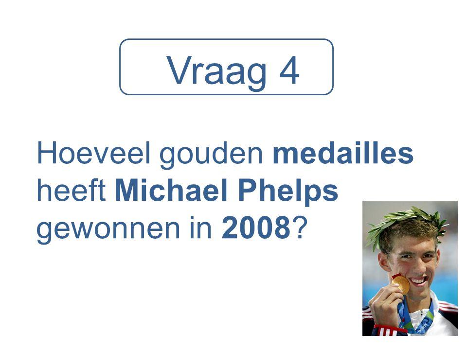 Hoeveel gouden medailles heeft Michael Phelps gewonnen in 2008