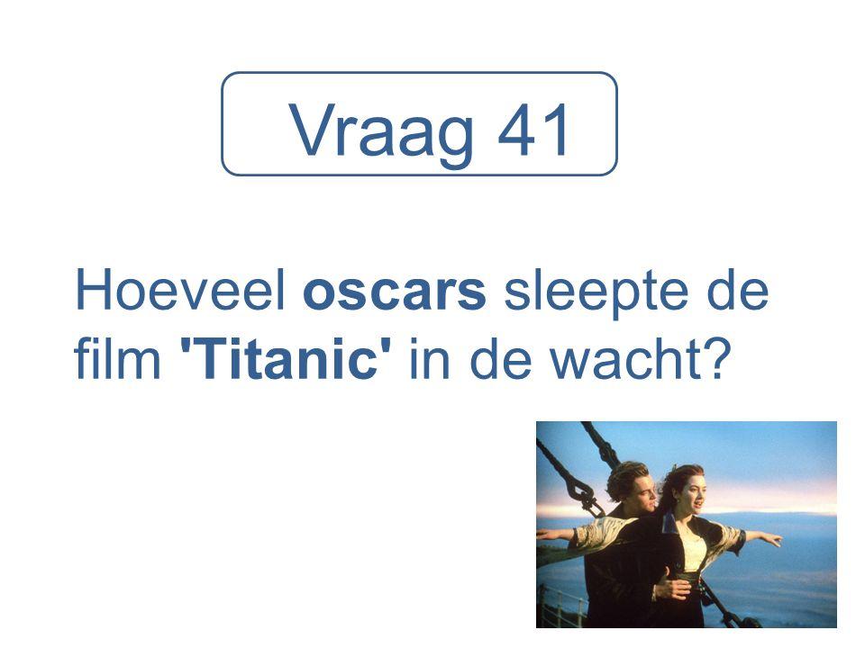 Hoeveel oscars sleepte de film Titanic in de wacht