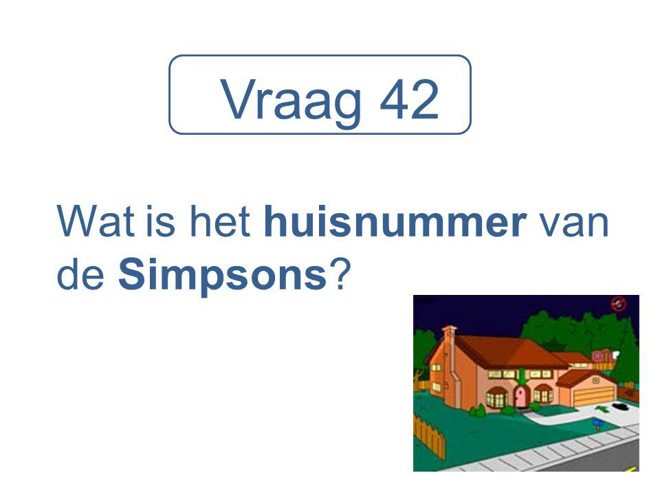 Wat is het huisnummer van de Simpsons