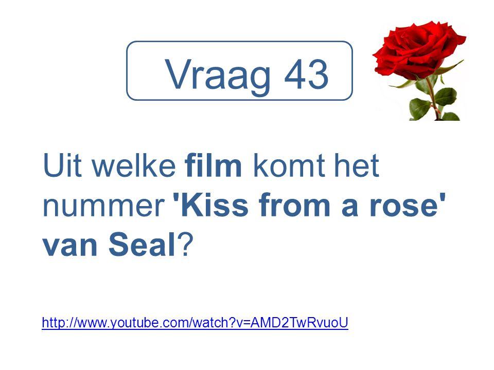 Vraag 43 Uit welke film komt het nummer Kiss from a rose van Seal
