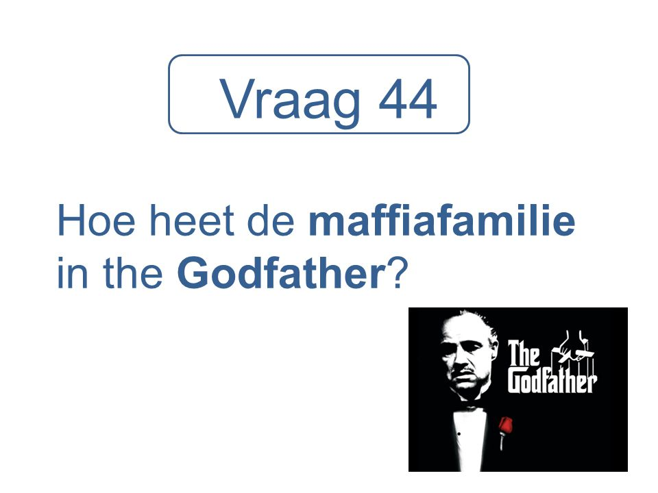Hoe heet de maffiafamilie in the Godfather