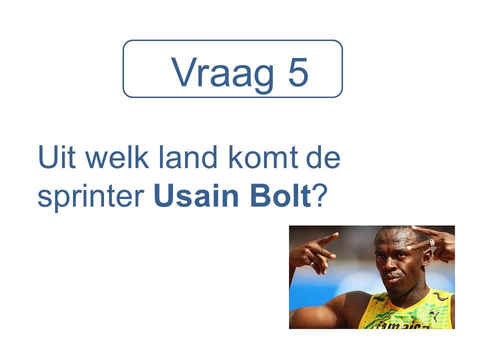 Uit welk land komt de sprinter Usain Bolt