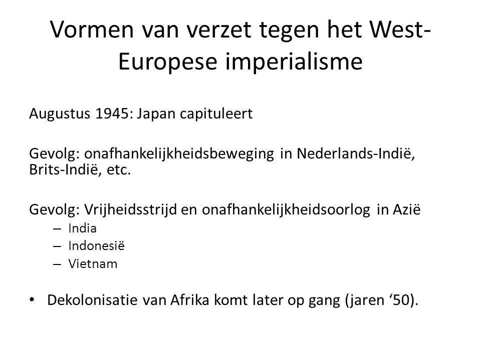 Vormen van verzet tegen het West-Europese imperialisme