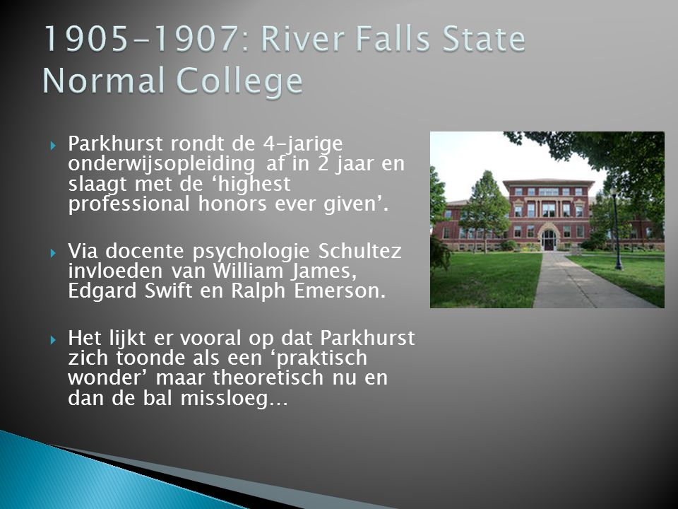 1905-1907: River Falls State Normal College
