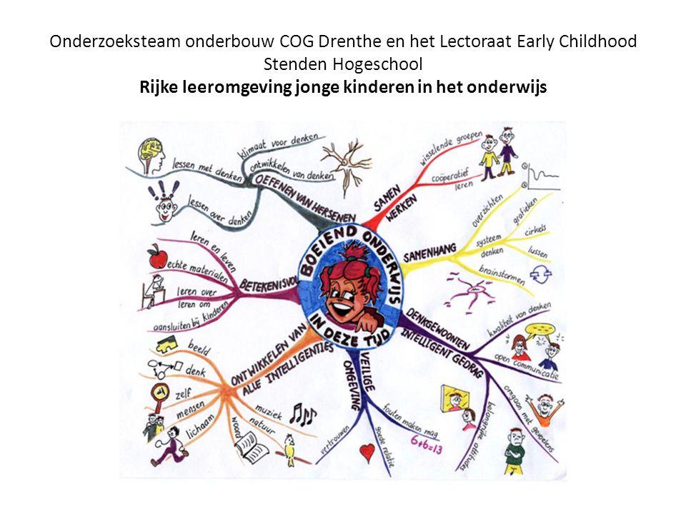 Onderzoeksteam onderbouw COG Drenthe en het Lectoraat Early Childhood Stenden Hogeschool Rijke leeromgeving jonge kinderen in het onderwijs