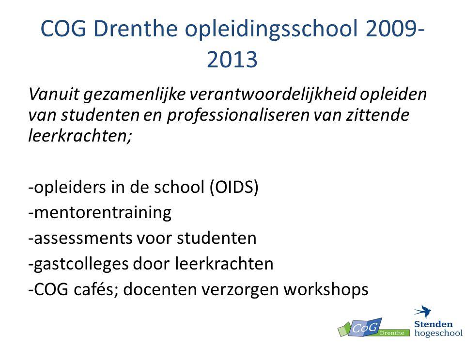 COG Drenthe opleidingsschool 2009-2013