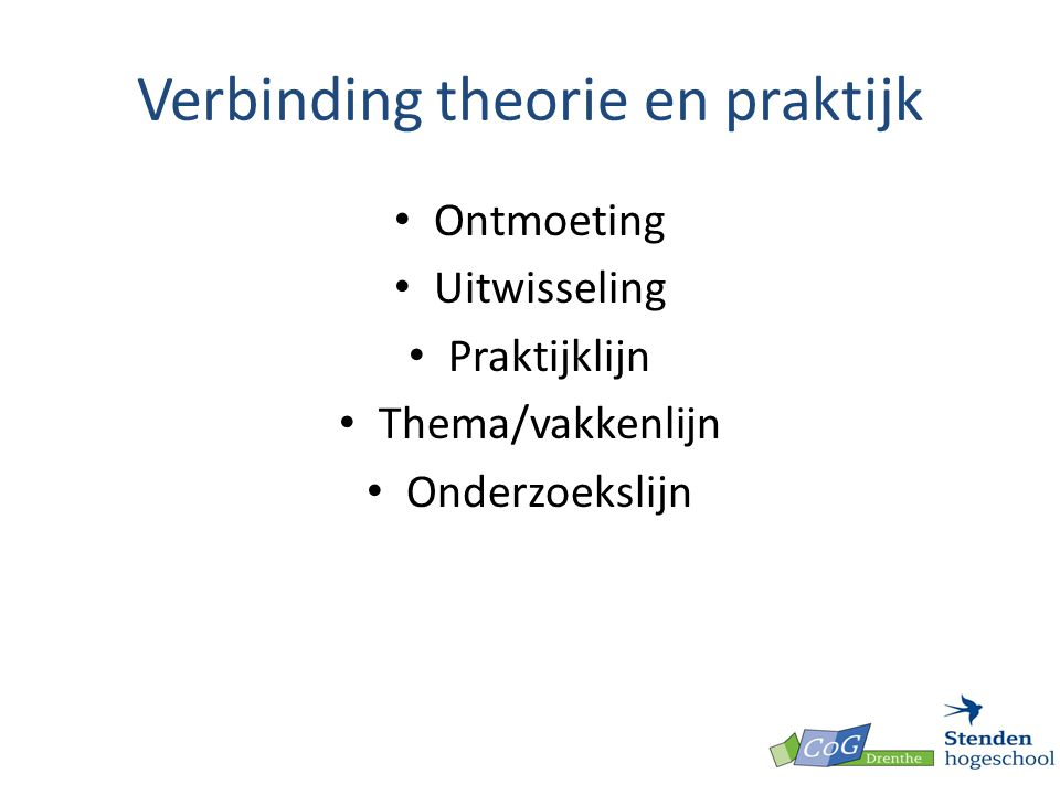 Verbinding theorie en praktijk