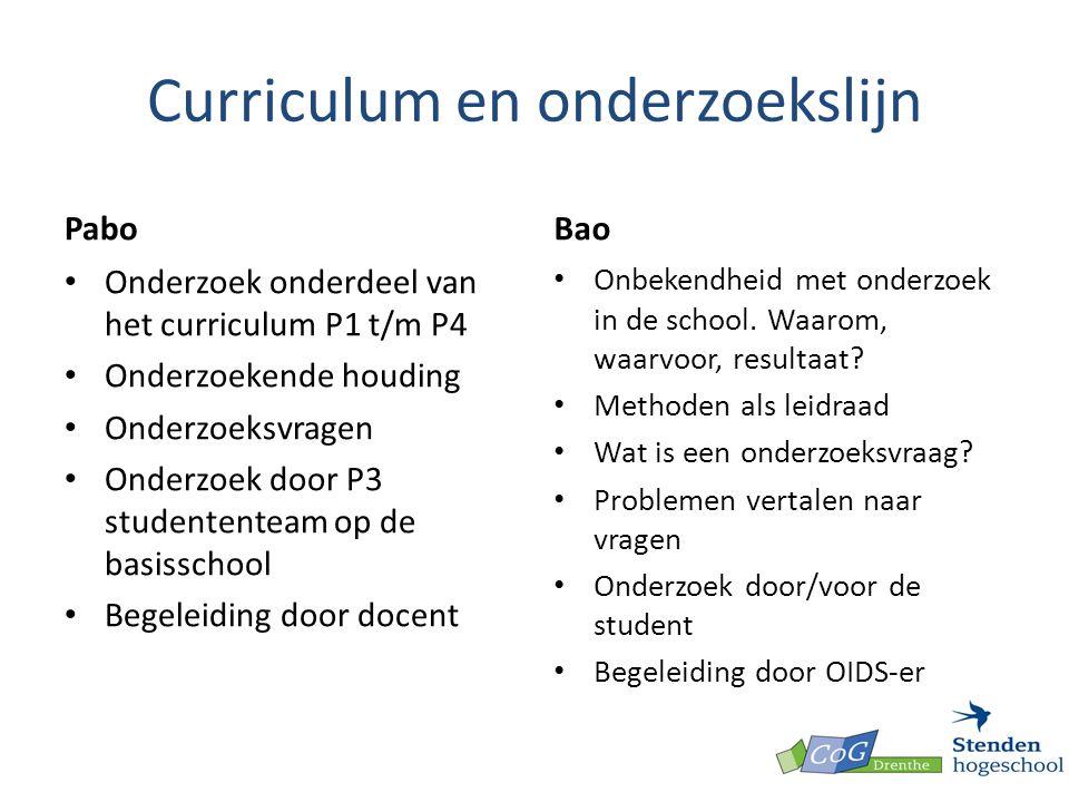 Curriculum en onderzoekslijn