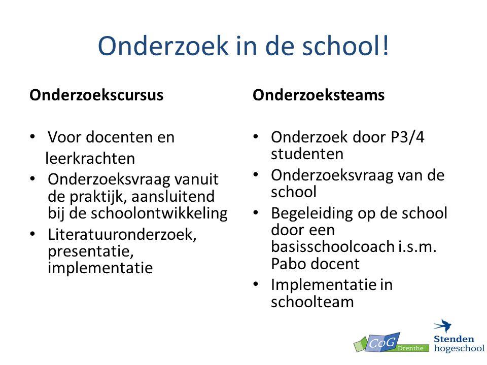 Onderzoek in de school! Onderzoekscursus Voor docenten en leerkrachten