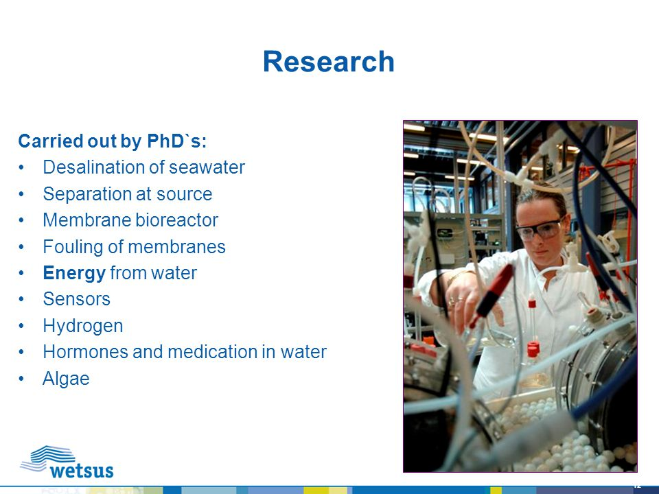 Research Carried out by PhD`s: Desalination of seawater
