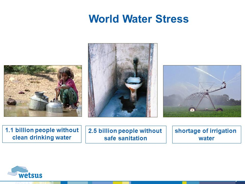 World Water Stress 1.1 billion people without clean drinking water