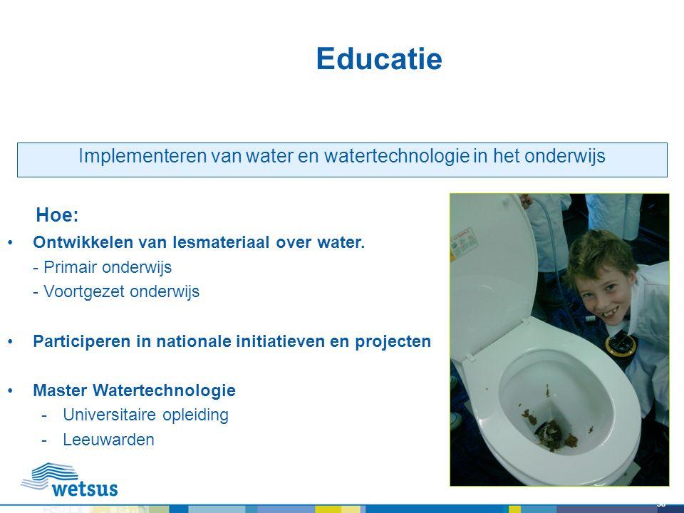 Implementeren van water en watertechnologie in het onderwijs