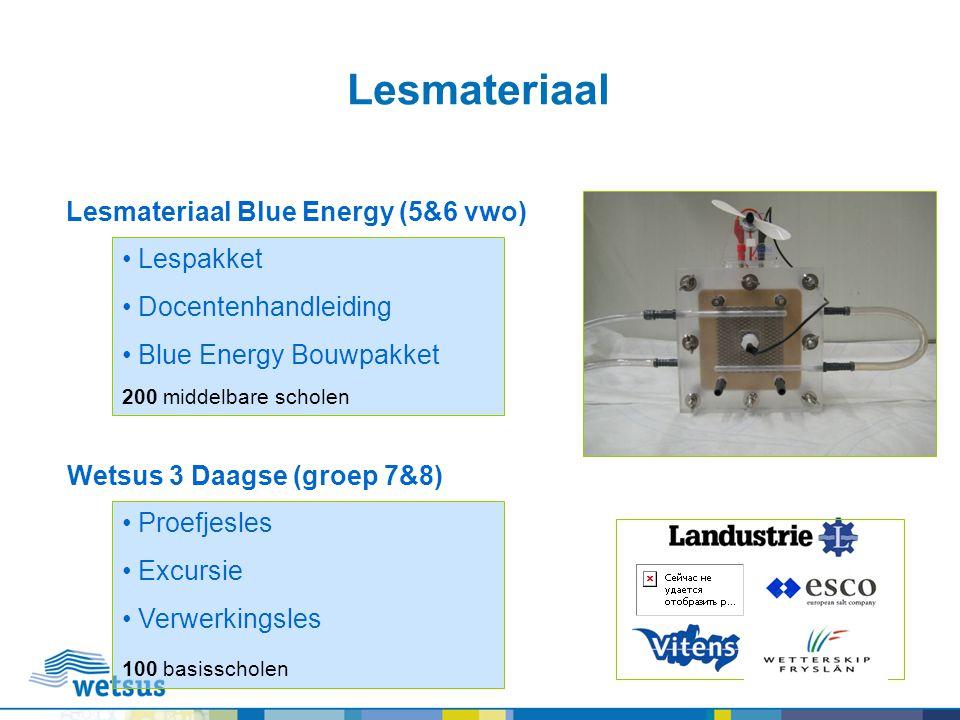 Lesmateriaal Lesmateriaal Blue Energy (5&6 vwo) Lespakket