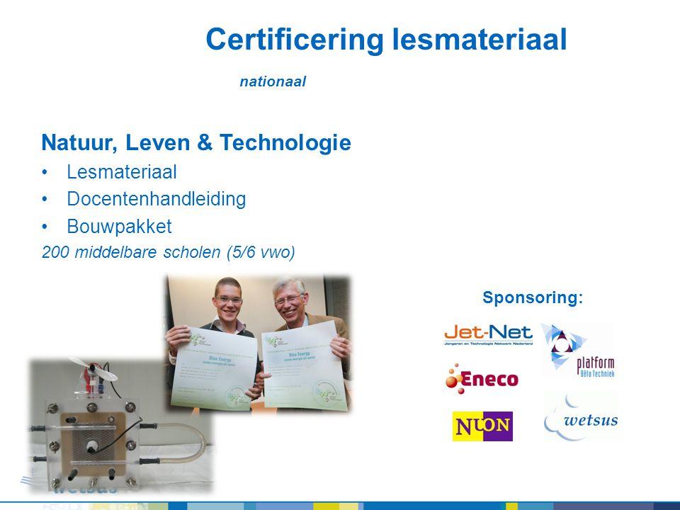 Certificering lesmateriaal nationaal