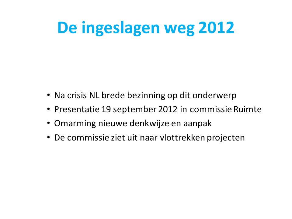 De ingeslagen weg 2012 Na crisis NL brede bezinning op dit onderwerp