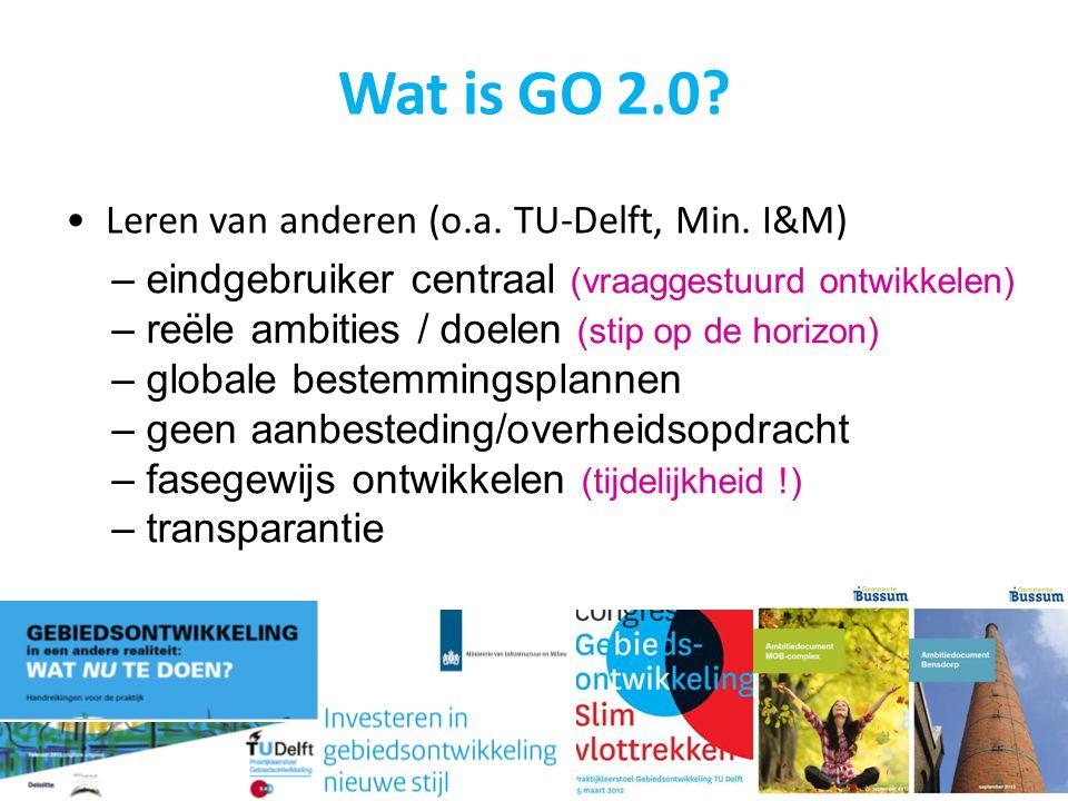 Wat is GO 2.0 Leren van anderen (o.a. TU-Delft, Min. I&M)